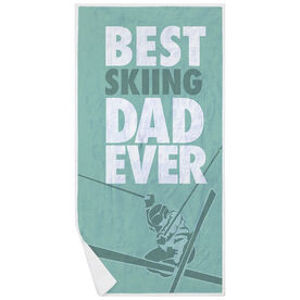 Skiing Premium Beach Towel - Best Dad Ever