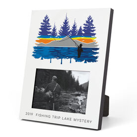 Fly Fishing Photo Frame - Pond Fishing In The Woods
