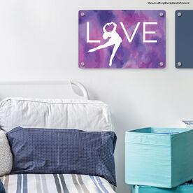 "Figure Skating 18"" X 12"" Aluminum Room Sign - Love"