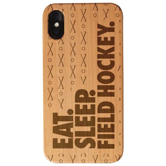 Field Hockey Engraved Wood IPhone® Case - Eat. Sleep. Field Hockey.