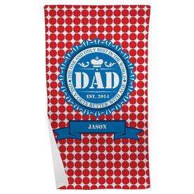 Personalized Beach Towel - Dad Bottle Cap