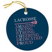 Guys Lacrosse Porcelain Ornament - Mother Words