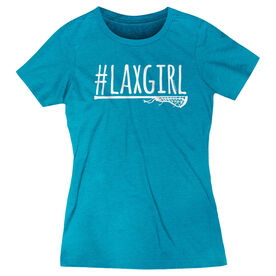 Girls Lacrosse Women's Everyday Tee - #LAXGIRL