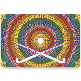 Field Hockey Metal Wall Art Panel - Mantra Spiral