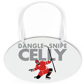 Hockey Oval Sign - Dangle Snipe Celly