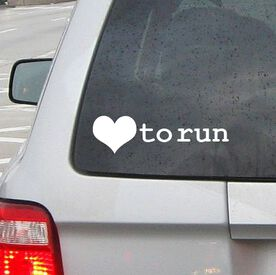 Love To Run Vinyl RUNNERDecal