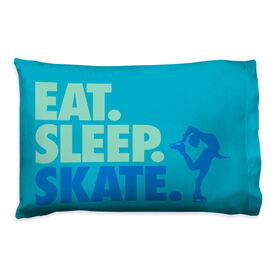Figure Skating Pillowcase - Eat Sleep Skate