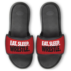 Wrestling Repwell® Slide Sandals - Eat Sleep Wrestle