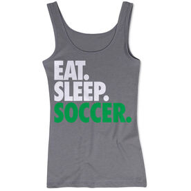 Soccer Women's Athletic Tank Top Eat. Sleep. Soccer.