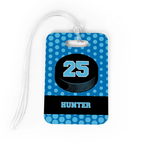 5d8bdc33c9 Images. Hockey Bag/Luggage Tag - Personalized Hockey Puck with Dots  Background
