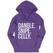 Hockey Lightweight Performance Hoodie - Dangle Snipe Celly Words