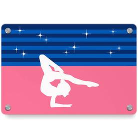 Gymnastics Metal Wall Art Panel - Spotlight Stripes