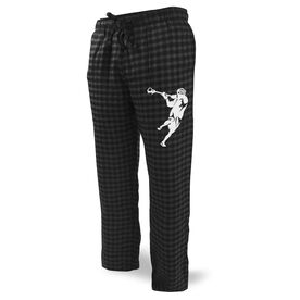 Guys Lacrosse Lounge Pants Lacrosse Jump Shot Silhouette