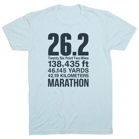 Running Short Sleeve T-Shirt - 26.2 Math Miles