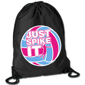 Volleyball Sport Pack Cinch Sack Just Spike It