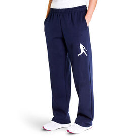 Baseball Fleece Sweatpants - Batter Silhouette