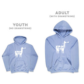 Girls Lacrosse Hooded Sweatshirt - Llama Lax