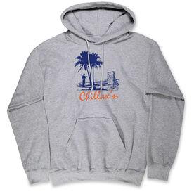 Guys Lacrosse Standard Sweatshirt - Chillax'n Beach Guy