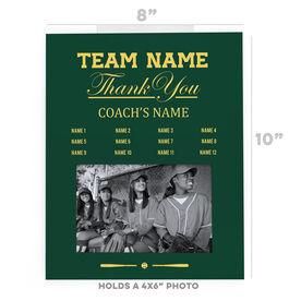 Softball Photo Frame - Thank You Coach Roster