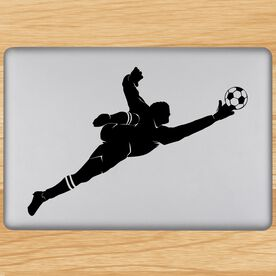 Soccer Goalie Guy Removable ChalkTalkGraphix Laptop Decal