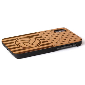 Volleyball Engraved Wood IPhone® Case - USA Volleyball