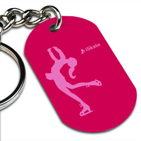 iSkate Printed Dog Tag Keychain
