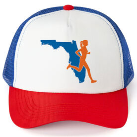 Running Trucker Hat - Florida Female Runner
