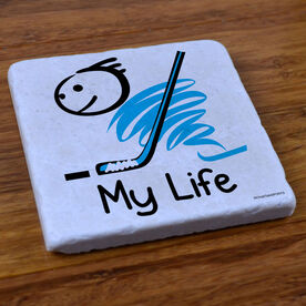 My Life Hockey (Male) - Stone Coaster
