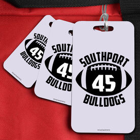 Football Bag/Luggage Tag Personalized Football with Team Name And Number