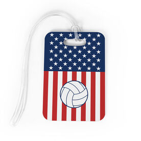 Volleyball Bag/Luggage Tag - USA Volleyball Girl
