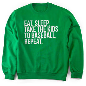 Baseball Crew Neck Sweatshirt - Eat Sleep Take The Kids To Baseball