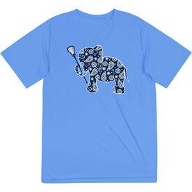 Girls Lacrosse Short Sleeve Performance Tee - Lax Elephant