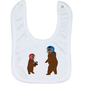 Football Baby Bib - Bears