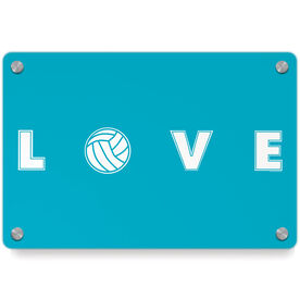 Volleyball Metal Wall Art Panel - LOVE Volleyball