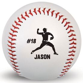 Custom Baseball Pitcher With Name And Number
