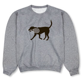 Tennis Crew Neck Sweatshirt - Tanner the Tennis Dog