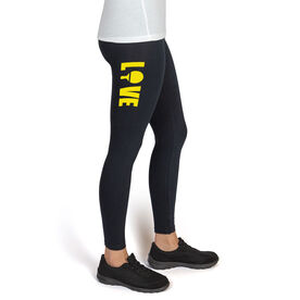 Ping Pong High Print Leggings Love with Paddle