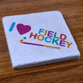 I Love Field Hockey - Stone Coaster