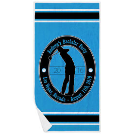 Golf Premium Beach Towel - Custom Crest