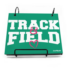 BibFOLIO® Race Bib Album - Heart Track and Field