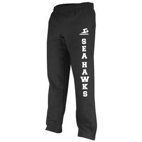Swimming Fleece Sweatpants Swim Team Name With Icon