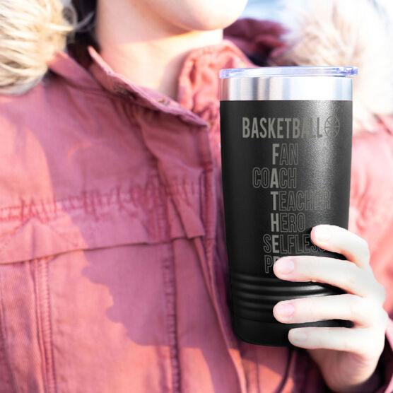 Basketball 20 oz. Double Insulated Tumbler - Basketball Father Words