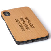 Personalized Engraved Wood IPhone® Case - Your Text Horizontal