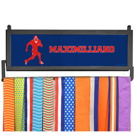 AthletesWALL Medal Display - Personalized Text With Running Back