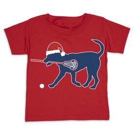 Guys Lacrosse Toddler Short Sleeve Tee - Christmas Dog