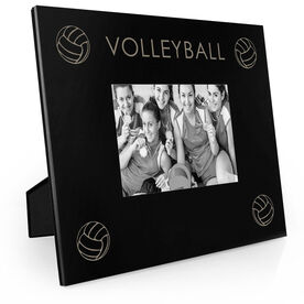 Volleyball Engraved Picture Frame - Four Corners