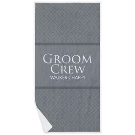 Personalized Premium Beach Towel - Groom Crew