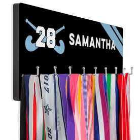 Field Hockey Hook Board Field Hockey Name with Stripes