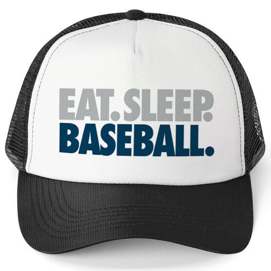 Baseball Trucker Hat - Eat. Sleep. Baseball.