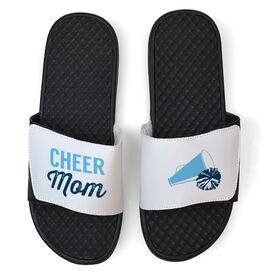 Cheerleading White Slide Sandals - Cheer Mom